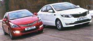 Hyundai Solaris против Kia Rio